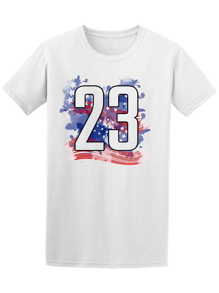 23 Number American Flag Tee Men's -Image by Shutterstock