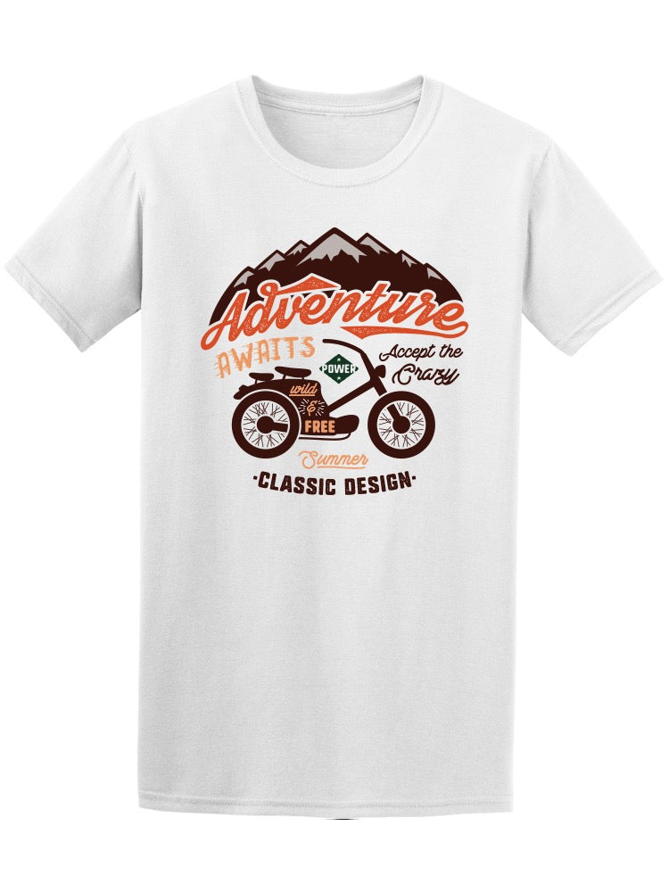 Adventure Awaits Bikers Tee Men's -Image by Shutterstock