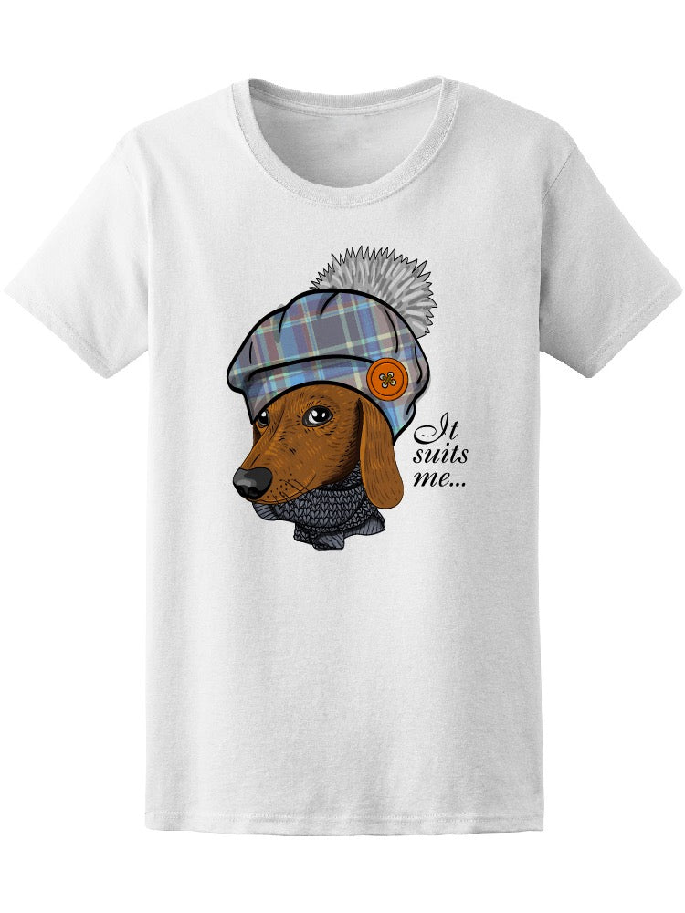 Beautiful Brown Dressed Dog Tee Women's -Image by Shutterstock