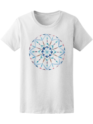 Watercolor Delicate Mandala Tee Women's -Image by Shutterstock