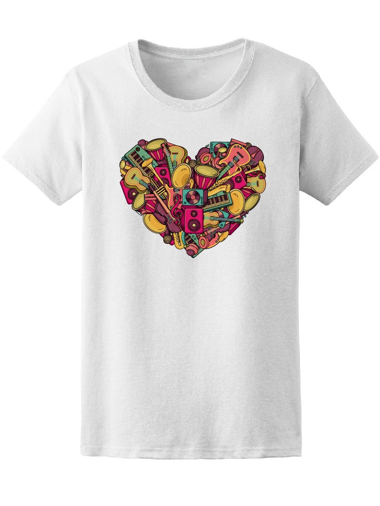Awesome Colorful Music Doodle Tee Women's -Image by Shutterstock