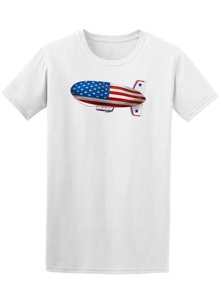 American Flag Airship Tee Men's -Image by Shutterstock