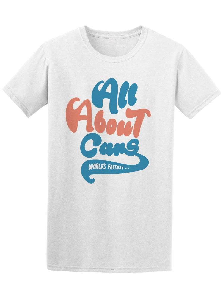 All About Cans Slogan Graphic Tee Men's -Image by Shutterstock
