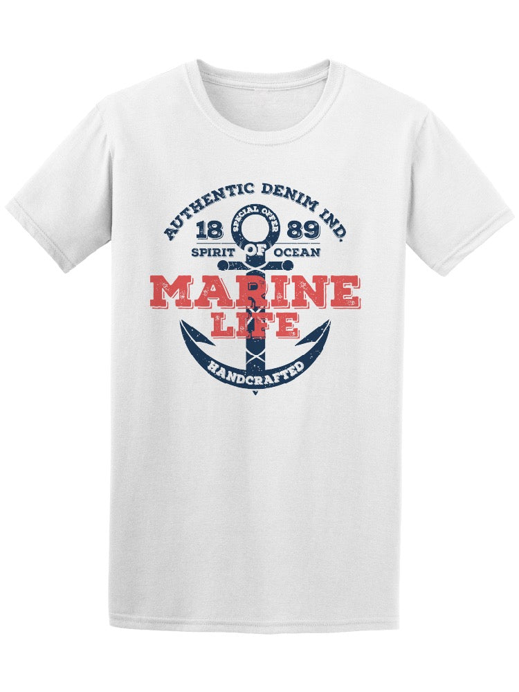 Authentic Denim Marine Life Tee Men's -Image by Shutterstock