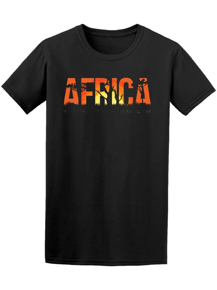 African Landscape Sunset Tee Men's -Image by Shutterstock