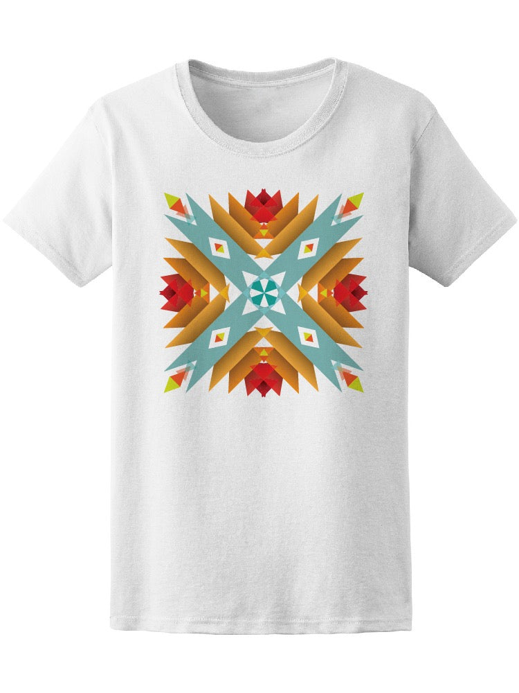 Abstract Geometric Flower Tee Women's -Image by Shutterstock