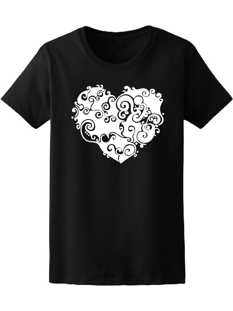 Abstract Floral Heart Tee Women's -Image by Shutterstock