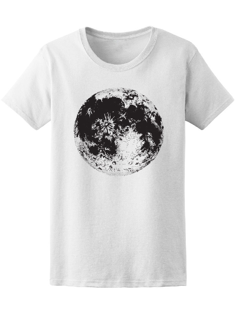 Astronomical Space Moon Image Tee Women's -Image by Shutterstock