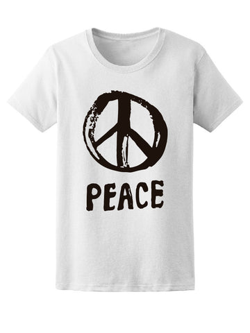 Brush Peace Vintage Symbol Tee Women's -Image by Shutterstock