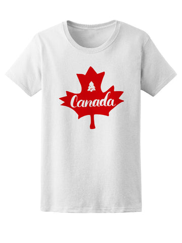 Canada Maple Leaf Christmas Pine Tee Women's -Image by Shutterstock
