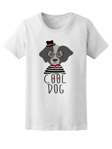 Cool Dog Classy Trendy Puppy Tee Women's -Image by Shutterstock
