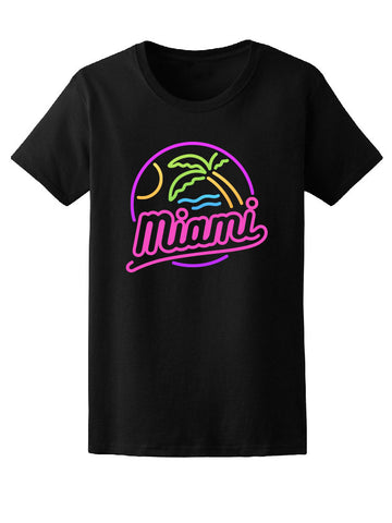 Mami Colorful Neon Summer Beach Tee Women's -Image by Shutterstock