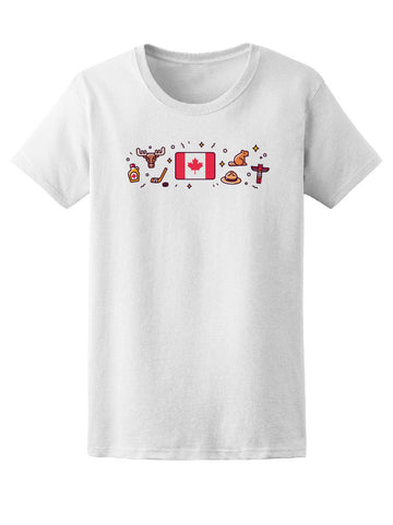 Canada Flag Moose Maple Hockey Tee Women's -Image by Shutterstock