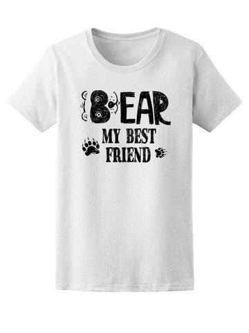 Cute Bear Paws My Best Friend Tee Women's -Image by Shutterstock