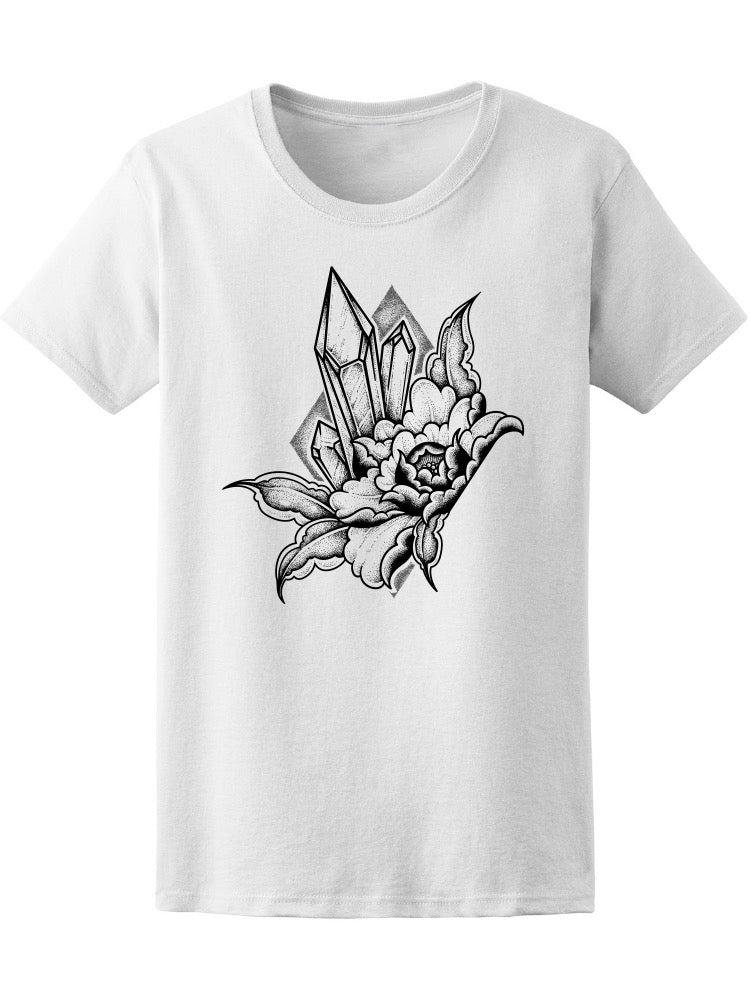 Beautiful Crysta And Flower Tee Women's -Image by Shutterstock
