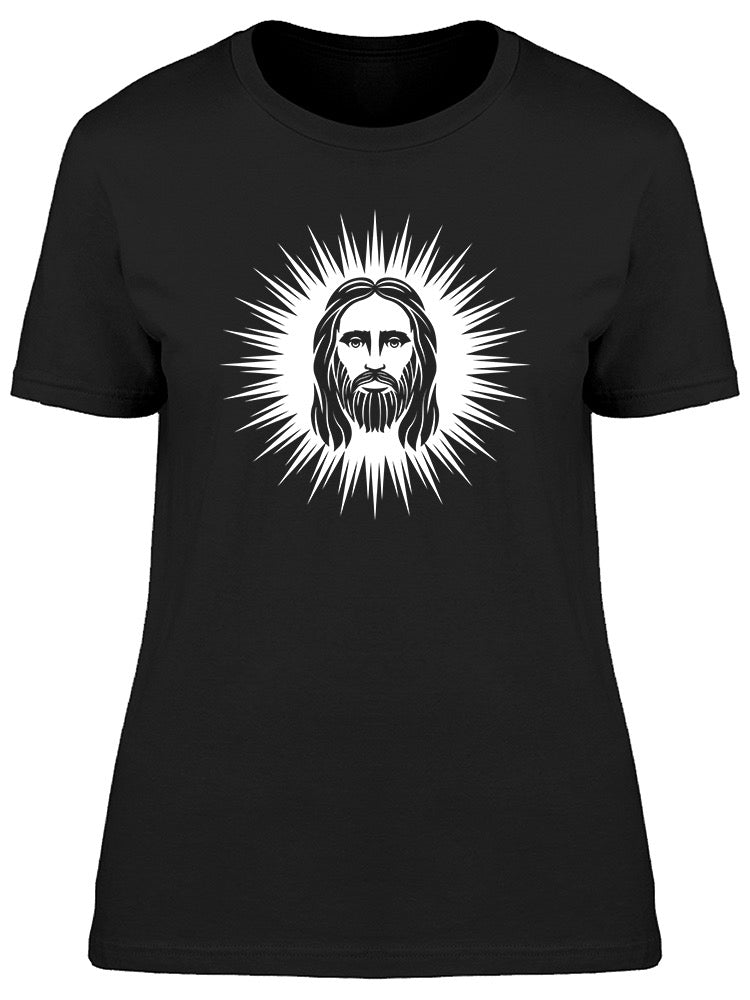 99c936743 Face Jesus Christ Graphic Tee Women's -Image by Shutterstock – Tee Bangers