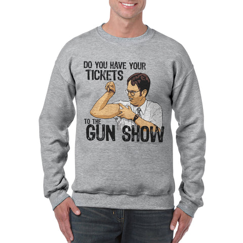 The Office Gun Show Men's Sports Grey Sweatshirt