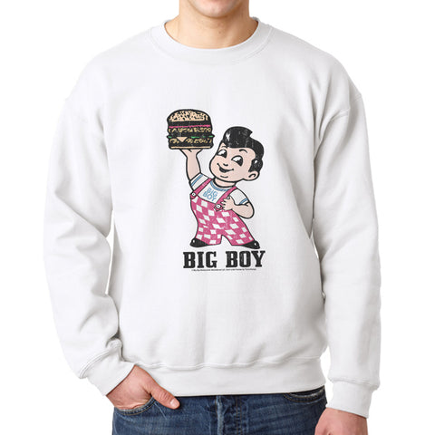 Big Boy Standing Men's White Sweatshirt