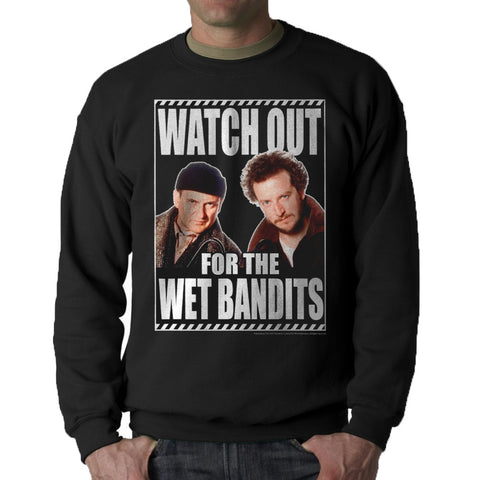 Home Alone Watch Out Wet Bandits Men's Black Sweatshirt