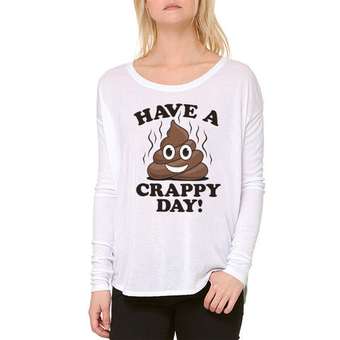 Humor Crappy Day Women's White Blouse