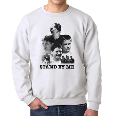 Stand By Me Poster Collage Men's White Sweatshirt
