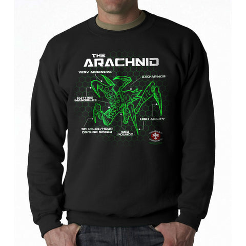 Starship Troopers Bug Schematic Men's Black Sweatshirt