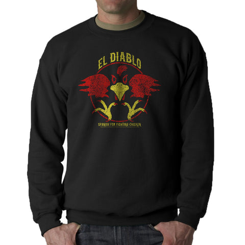 Talladega Nights El Diablo Men's Black Sweatshirt