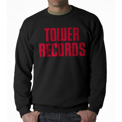 Tower Records Vintage Stack Men's Black Sweatshirt