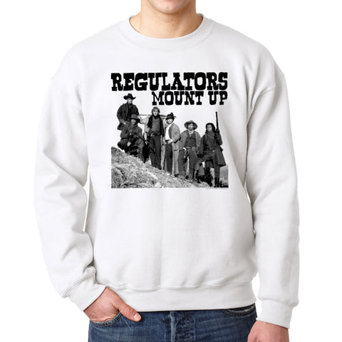 Young Guns Mount Up Men's White Sweatshirt