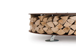 AK47 Design Zero White Small Wood-Burning Fire Pit - The Outdoor Fireplace Store
