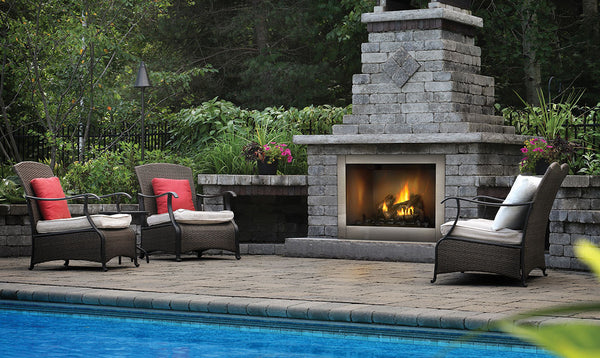 "Order the Napoleon Riverside 42"" Clean Face Outdoor Gas Fireplace GSS42CFN today from The Outdoor Fireplace Store. FREE Shipping all Outdoor Fireplaces. FREE Conversion Kit."