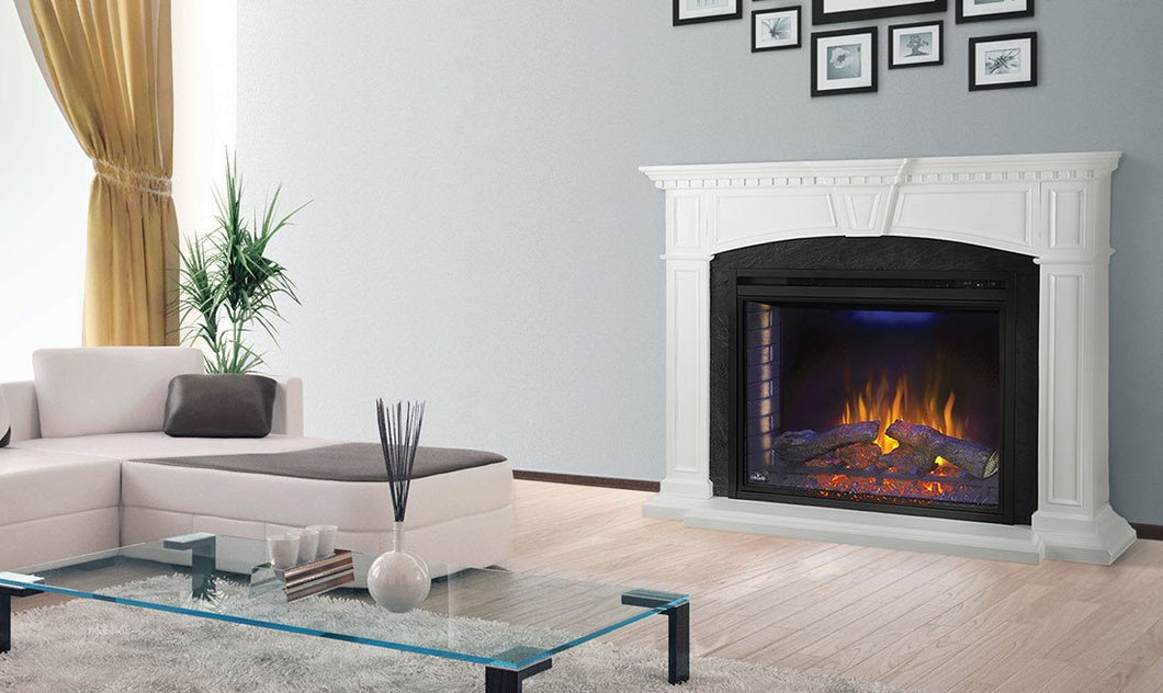 Napoleon Taylor Electric Fireplace Mantel Package NEFP33-0214W - The Outdoor Fireplace Store