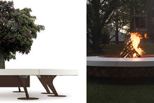 Load image into Gallery viewer, AK47 Design Ercole Concrete Large White Wood-Burning Fire Pit - The Outdoor Fireplace Store