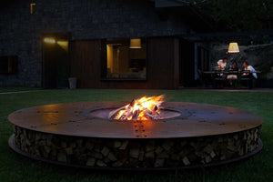 AK47 Design Zero Black Large Wood-Burning Fire Pit - The Outdoor Fireplace Store