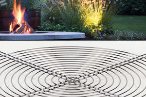 AK47 Design Ercole Concrete Large Basic Grey Wood-Burning Fire Pit - The Outdoor Fireplace Store