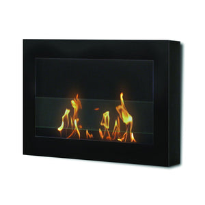 Anywhere Fireplace SoHo Indoor Wall Mount - Satin Black - The Outdoor Fireplace Store