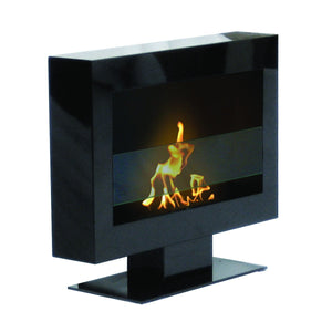 Anywhere Fireplace Tribeca II Indoor/Outdoor Floor Standing - Black - The Outdoor Fireplace Store