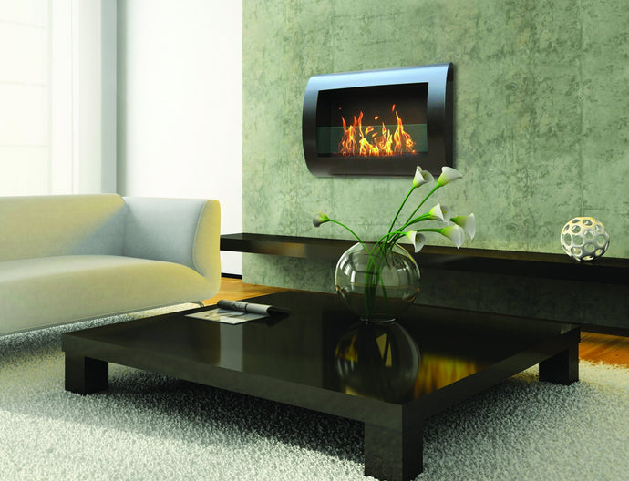 Anywhere Fireplace Chelsea Indoor Wall Mount - Black - The Outdoor Fireplace Store