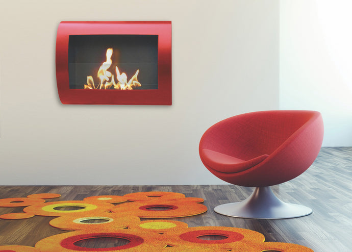 Anywhere Fireplace Chelsea Indoor Wall Mount - Red High Gloss - The Outdoor Fireplace Store