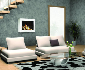 Anywhere Fireplace SoHo Indoor Wall Mount - White High Gloss - The Outdoor Fireplace Store