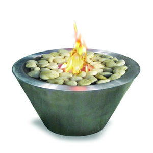 Anywhere Fireplace Oasis Indoor/Outdoor Fireplace - Stainless Steel - The Outdoor Fireplace Store