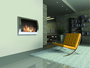 Anywhere Fireplace Chelsea Indoor Wall Mount - Stainless Steel - The Outdoor Fireplace Store