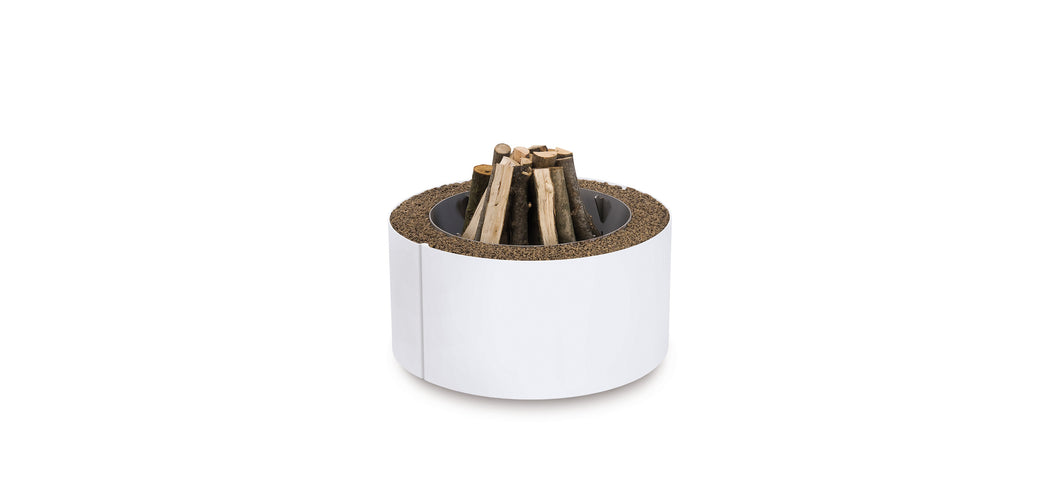 AK47 Design Mangiafuoco White Wood-Burning Fire Pit - White - The Outdoor Fireplace Store