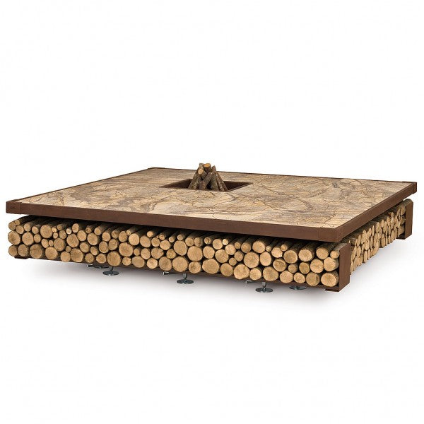 AK47 Design Opera Brown Wood-Burning Fire Pit
