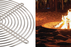 AK47 Design Hole Oxidized Steel Small Wood-Burning Fire Pit - The Outdoor Fireplace Store