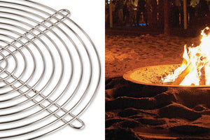 AK47 Design Hole Oxidized Steel Wood-Burning Fire Pit - The Outdoor Fireplace Store