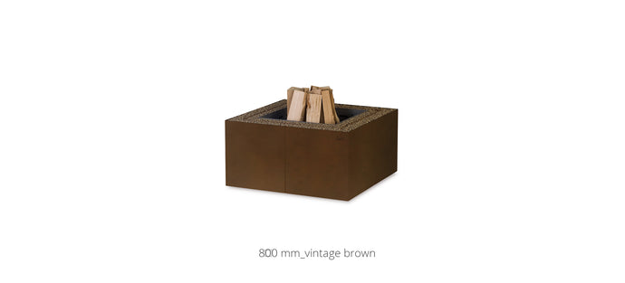 AK47 Design Dado Oxidised Wood-Burning Fire Pit