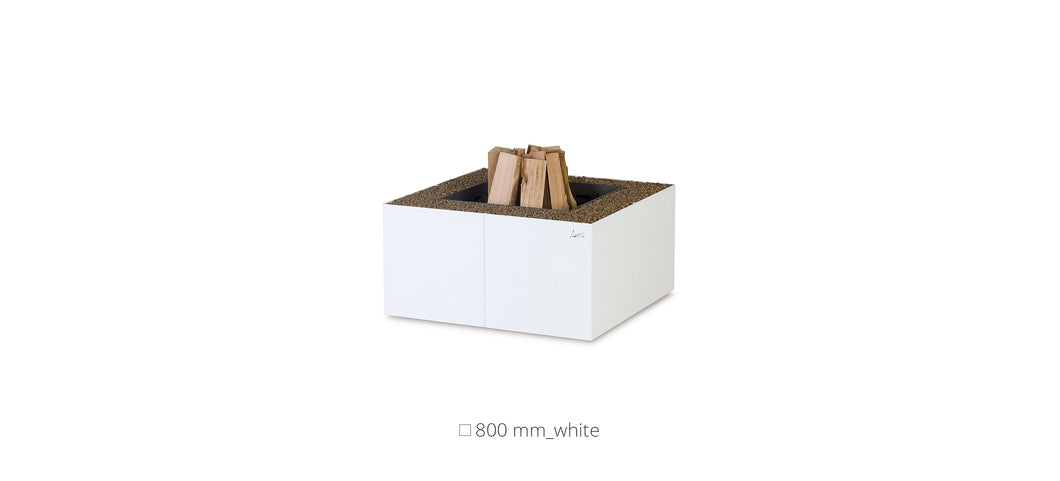 AK47 Design Dado White Wood-Burning Fire Pit
