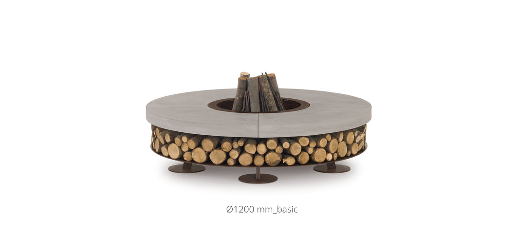 AK47 Design Ercole Concrete XSmall Basic Grey Wood-Burning Fire Pit - The Outdoor Fireplace Store
