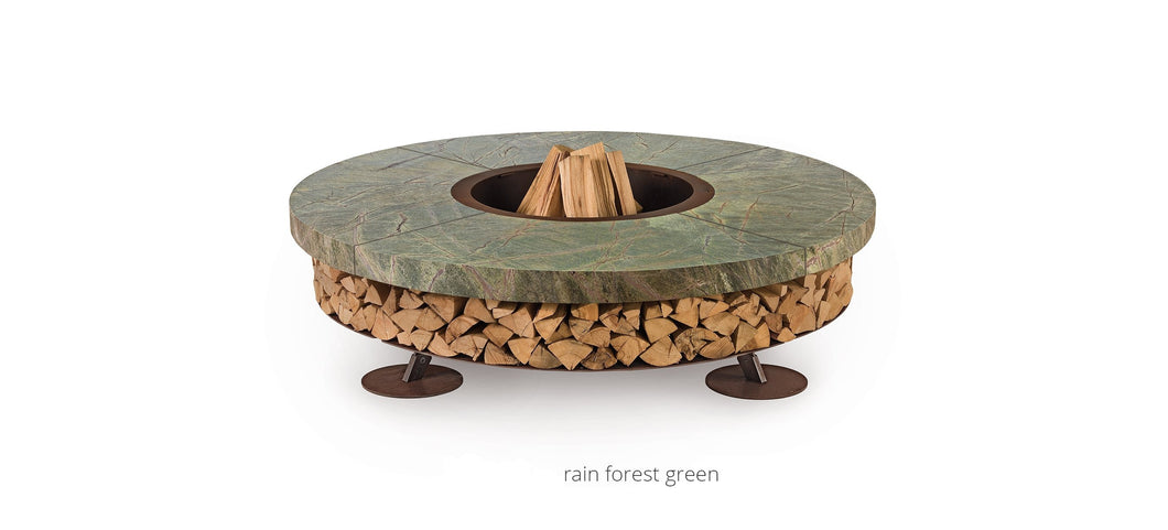 AK47 Design Ercole Rain Forest Green Marble XSmall Wood-Burning Fire Pit - The Outdoor Fireplace Store